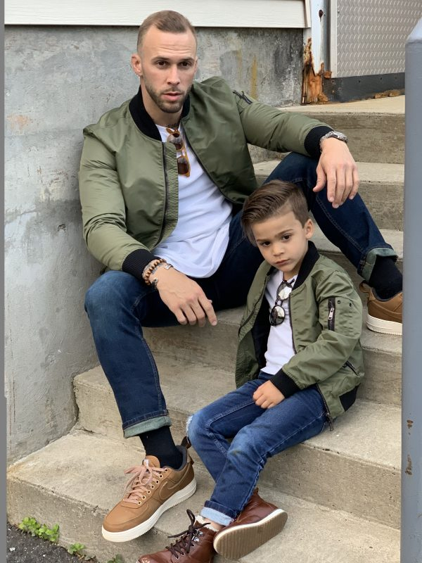 Matching Father & Son Bomber Jackets in Khaki