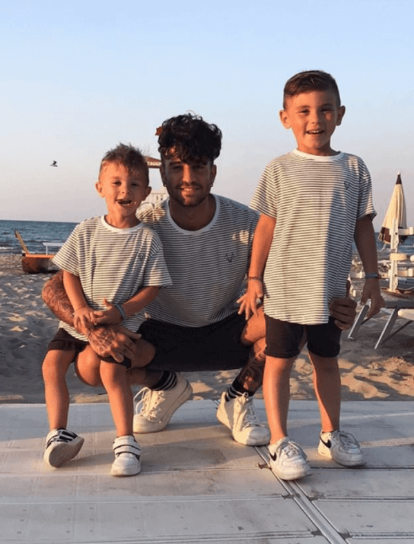 MANCUB matching striped t-shirts for father and son