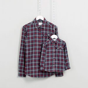 Flannel Check Shirt Matching for Dad & Son - top rated product