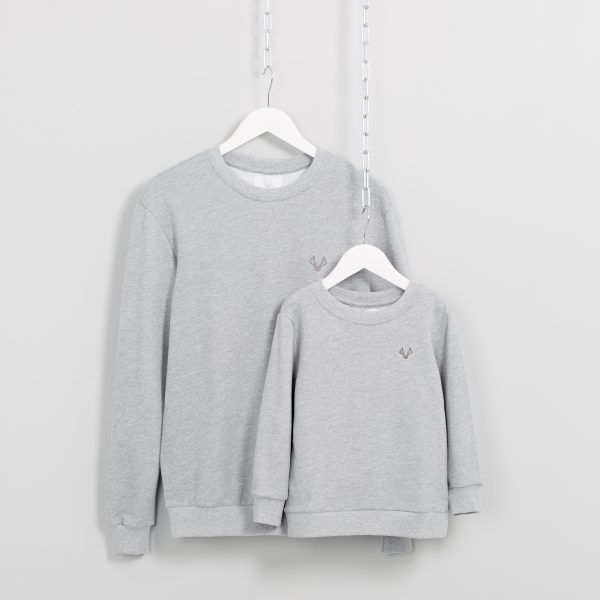 Matching Crewneck Sweatshirts in Grey Marl