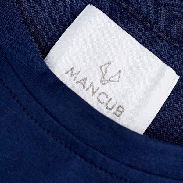 Classic navy t-shirt detail