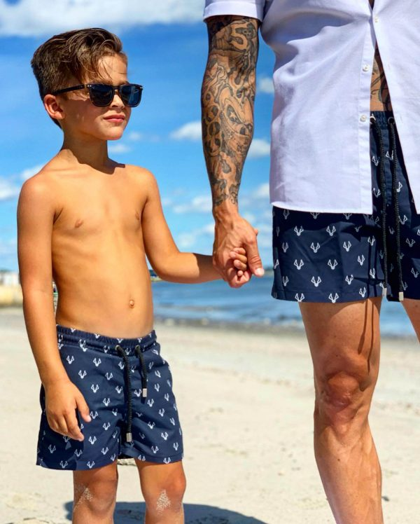 MANCUB Signature swim shorts matching father and son