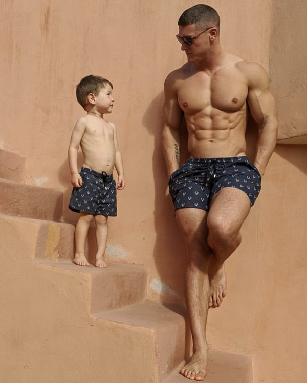 Matching Dad & Son Swim Trunks by MANCUB
