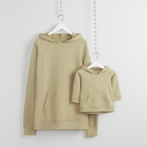 Matching father and son hoodies in Twill