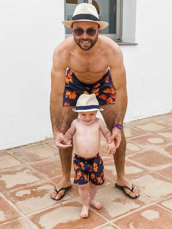 Matching Father and Son Swim Shorts by MANCUB