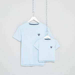 Matching Blue T-shirts for father & son
