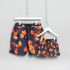Matching Dad and Son Swim Trunks