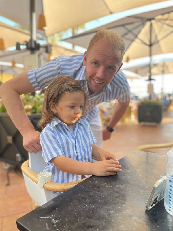 Linen Striped Shirts MANCUB matching father and son